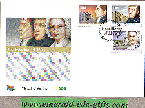 Ireland 2003 Fdc 1803 Rebellion Bicentenary (an Post