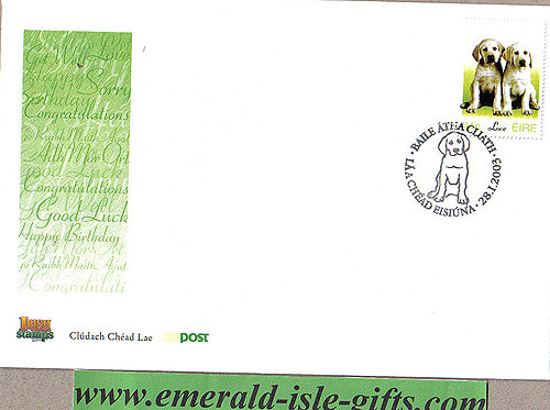 Ireland 2003 Fdc Love Stamp Puppies (an Post)