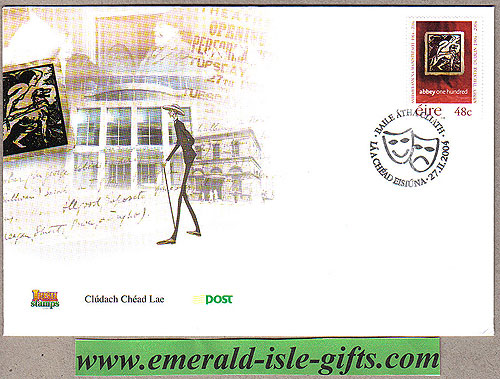 Ireland 2004 Abbey Theatre Fdc First Day Cover(an Post)