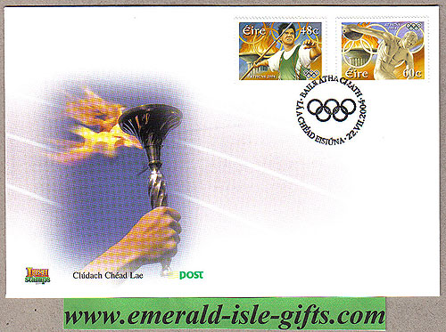 Ireland 2004 Olympic Athens Javelin Discus Fdc (an Post