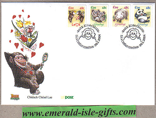 Ireland 2004 Greetings Cartoon Animals Fdc