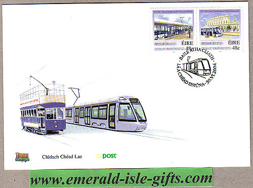 Ireland 2004 Luas Tram Railway System Fdc (an Post)