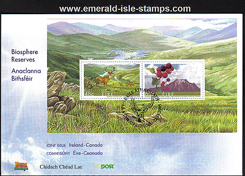 Ireland 2005 Biospheres Canada Jt Iss Min Sheet Fdc