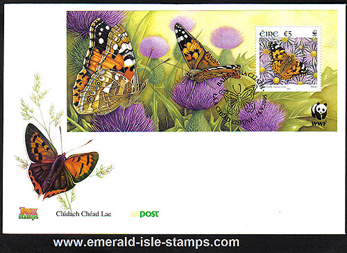 Ireland 2005 Wwf : Butterflies Min Sheet Fdc (an Post)