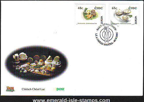 Ireland 2005 Europa: Gastronomy Fdc (an Post)