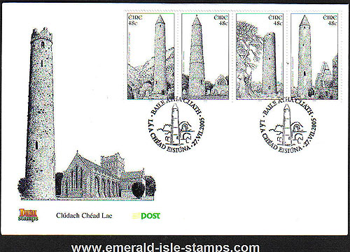 Ireland 2005 Irish Round Towers First Day Cover Fdc