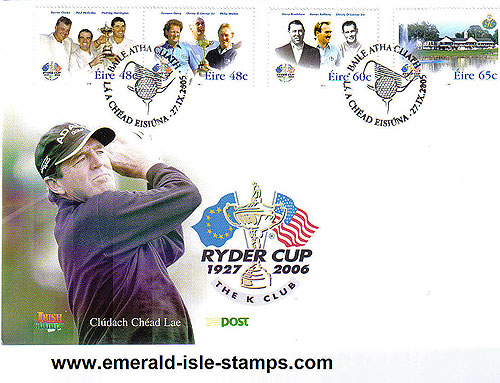 Ireland 2005 Fdc Golf: Ryder Cup First Day Cover
