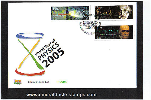 Ireland 2005 World Year Of Physics Einstein Fdc