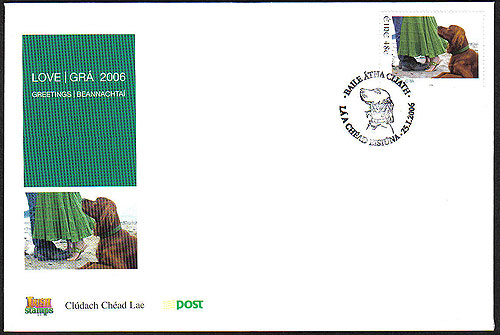 Ireland 2006 Love Stamp Red Setter Fdc First Day Cover