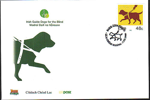 Ireland 2006 Irish Guide Dogs First Day Cover