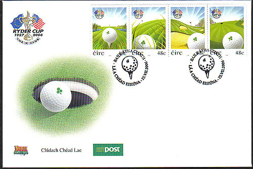 Ireland 2006 Ryder Cup Golf Phase 2 First Day Cover