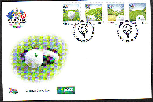 Ireland 2006 Ryder Cup Golf Phase 2 Fdc Self Adh