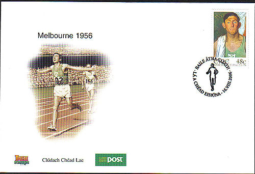 Ireland 2006 Ronnie Delaney Olympic Gold Medalist Fdc