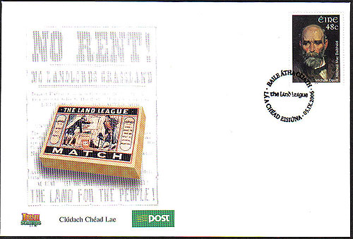 Ireland 2006 Michael Davitt Stamp Fdc First Day Cover