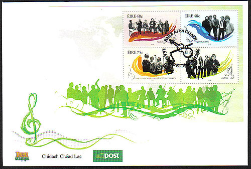 Ireland 2006 Irish Traditional Music Miniature Sht Fdc