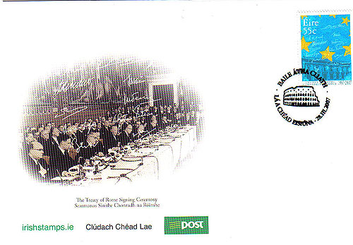 Ireland 2007 Treaty Of Rome Fdc First Day Cover