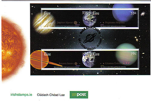 Ireland 2007 The Planets Phase 1 Fdc Miniature Sheet