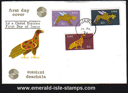 1971 Ireland Fdc Gerl Dec Issue High Vals (harp Eagle)