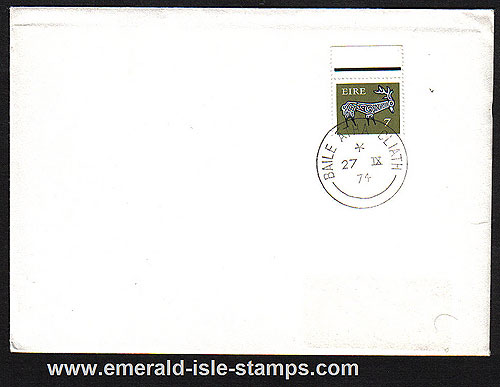 1974 Ireland Fdc Gerl 4th Def Series 8p Stag (plain)