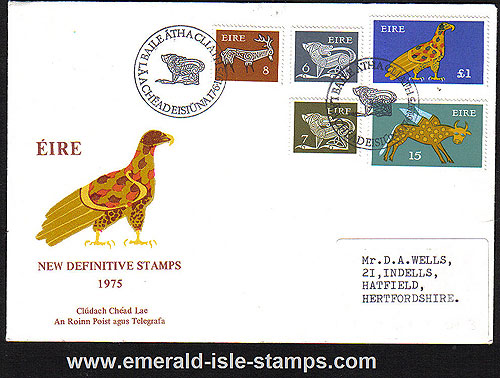 1975 Ireland Fdc Gerl Unwrmk Low Vals (plain)