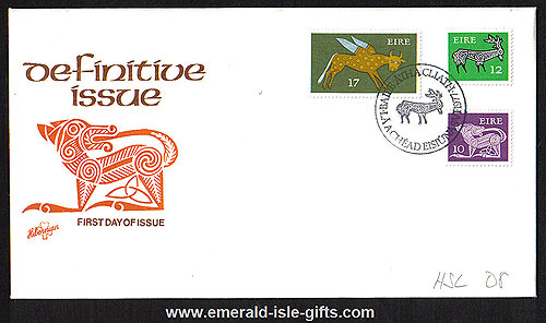 1977 Ireland Fdc Gerl Coil Stamps Fdc Scarce (hib)