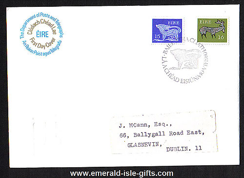 1980 Ireland Fdc Gerl 1974-80 Unwatermarked 15p, 16p