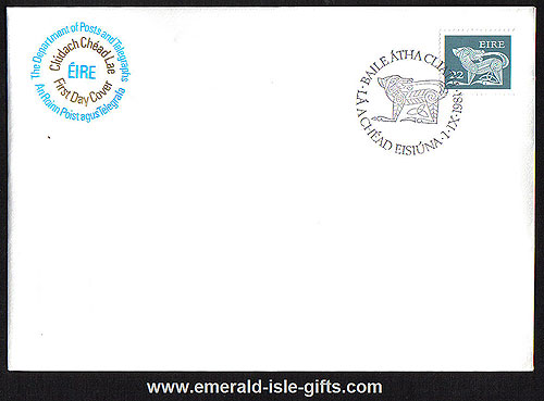 1981 Ireland Fdc Gerl 1981-2 Coil Stamp 22p