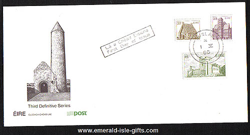 1986 Ireland Fdc 6th Def Series Architec Phase 5 To 46p