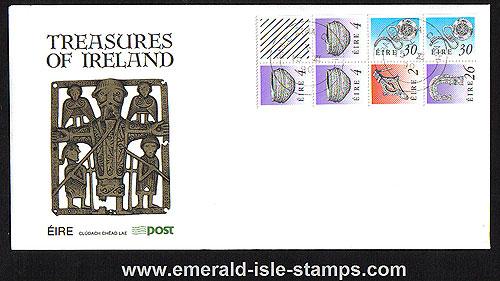1990 Ireland Fdc Sb37 (sg) ? Booklet Pane Tara Bro