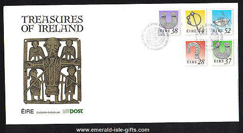 1991 Ireland Fdc 7th Def Serie Treasures Phase 4 To 52p