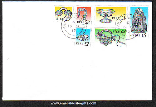 1995 Ireland Fdc Irish Treasures Enschede Lithography