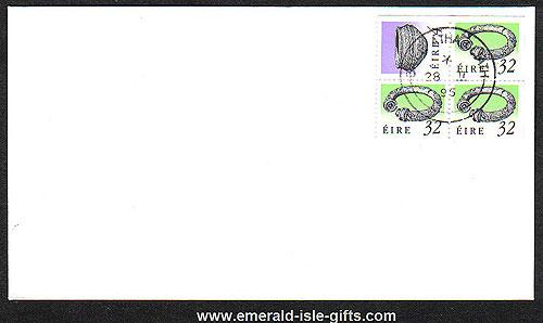 1995 Ireland Fdc Sb46b (sg) ? Booklet Pane Broighter