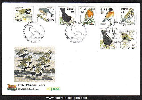 1998 Ireland Fdc Birds Phosphor Signal First Day Cvr