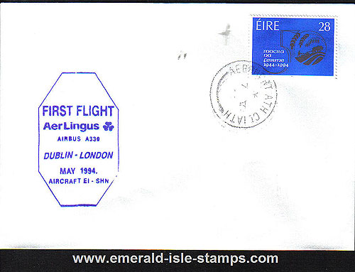 Ireland 1994 Ffc Dublin To London Aer Lingus Airbus