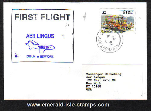 Ireland 1994 Ffc Dublin To New York Aer Lingus Airbus