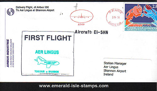 Ireland 1994 Delivery Toulouse Shannon Del. Aer Lingus