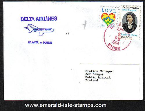 Ireland 1994 Ffc Atlanta To Dublin Delta