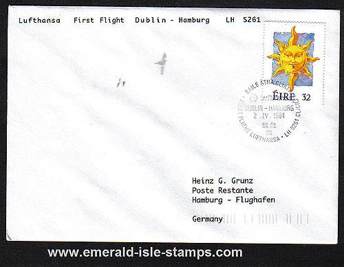 Ireland 1994 Ffc Dublin To Hamburg Lufthansa