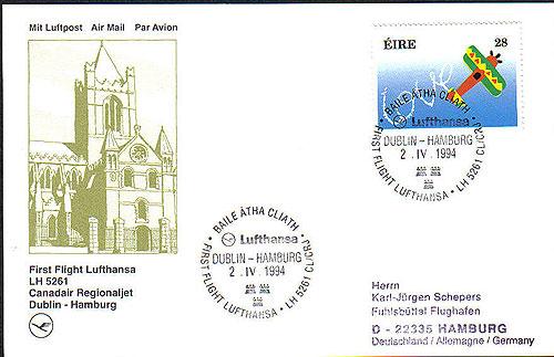 Ireland 1994 FFC Dublin Lufthansa Hamburg Lufthansa