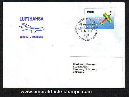 Ireland 1994 FFC Lufthansa Dublin To Hamburg