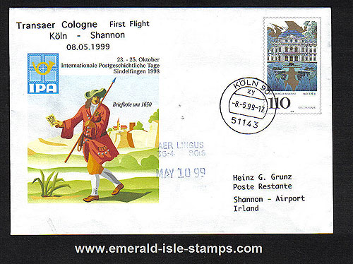 Ireland 1999 Ffc Cologne To Shannon Transaer