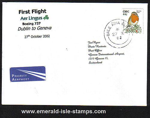 Ireland 2002 Ffc Dublin To Geneva Aer Lingus