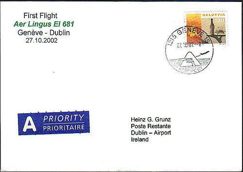 Ireland 2002 FFC Aer Lingus Geneva Dublin