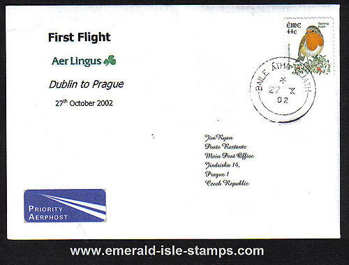 Ireland 2002 Ffc Dublin To Prague Aer Lingus