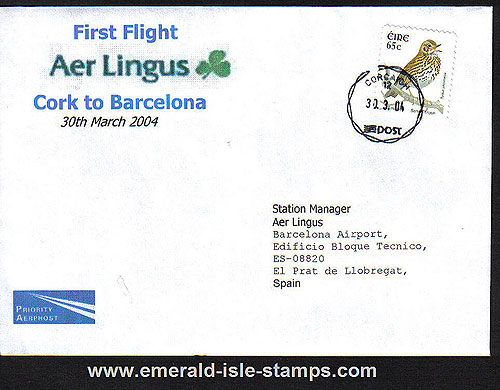Ireland 2004 Ffc Cork To Barcelona Aer Lingus