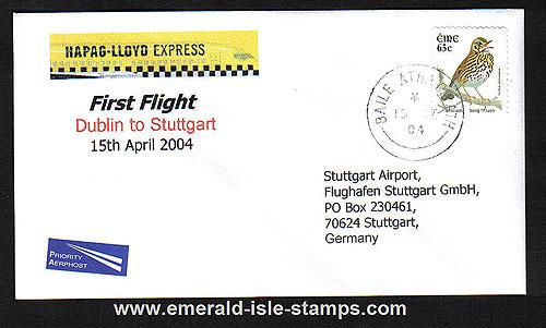 Ireland 2004 Ffc Dublin To Stuttgart Hapag-lloyd Exp.