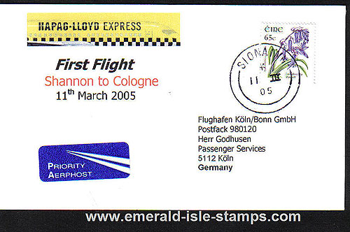 Ireland 2005 Ffc Shannon To Cologne Hapag-lloyd