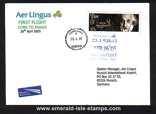 Ireland 2005 Ffc Cork To Munich Aer Lingus