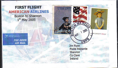 Ireland 2005 Ffc Boston Shannon American Airlines type 2