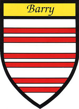Barry Coat of Arms (Sticker)